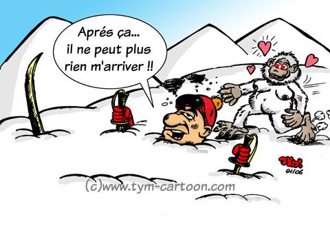 humour ski neige